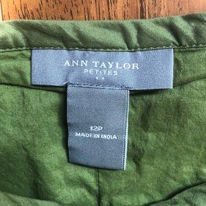 Ann Taylor Skirts - Ann Taylor Sage Green Embroidery Skirt